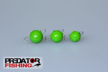 "Heads ,,Czeburaszki""  1g -slow bait drop - green"