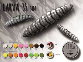 Libra Lures-Larva 35mm kryl